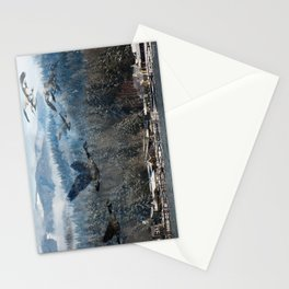Geese over Wintery Lake Stationery Cards