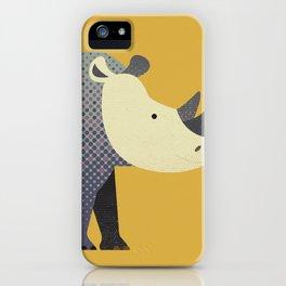 Whimsy Rhinoceros II iPhone Case