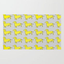 Doxie Love - Grey and Yellow Rug