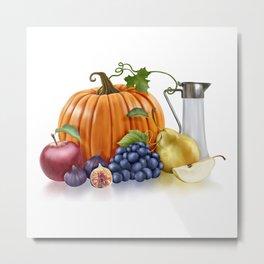 Fall Fruits Metal Print
