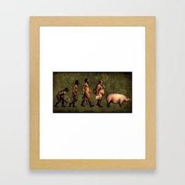 Human evolution Framed Art Print