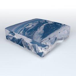 Aerial Glacier Four - Alaska Outdoor Floor Cushion