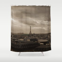 Rooftop view of Paris Shower Curtain