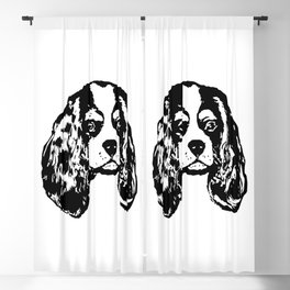 Cavalier King Charles Spaniel Dog Lover Gifts,Gift Wrapped For Christmas Blackout Curtain