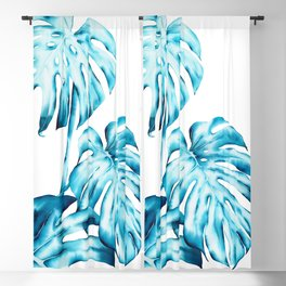 Tropical Monstera Leaves Blackout Curtain