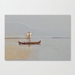 Viking Ship Vintage Canvas Print