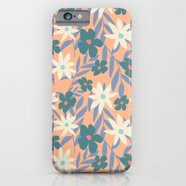 Just Peachy Floral iPhone Case