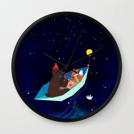 take a ride with my Paper boat Wall Clock