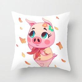 Animal Crossing - Autumn Gala Throw Pillow