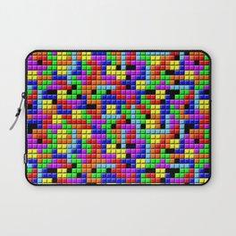 Tetris Inspired Retro Gaming Colourful Squares Laptop Sleeve