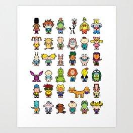 90s Nicktoons Art Print