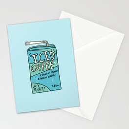 Iced Coffee Juicebox Stationery Cards