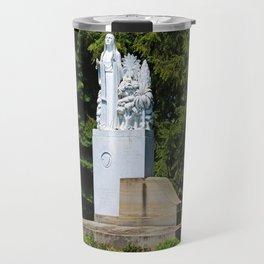Lourdes University- Our Lady of Sylvania in the Spring (horizontal) Travel Mug