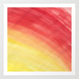 Sunburst watercolor Art Print
