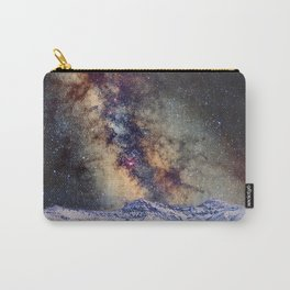 The star Antares, Scorpius and Sagitariuss over the hight mountains. The milky way. Carry-All Pouch