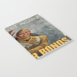 Vintage poster - Buy War Bonds Notebook