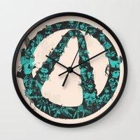 borderlands Wall Clocks featuring Borderlands 2 by Bill Pyle