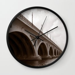 McArthur Bridge, Belle Isle Detroit Wall Clock