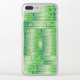 Las Vegas Street Signs Clear iPhone Case