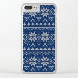 Knitted Scandinavian pattern 2 Clear iPhone Case