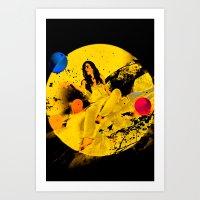 The Moon Melody  Art Print