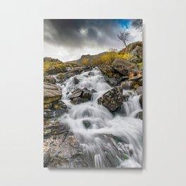 Cwm Idwal River Snowdonia Metal Print