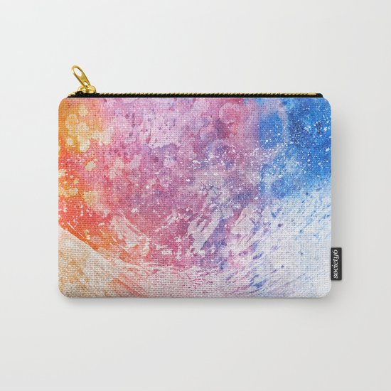 Abstract Acrylic Mountain Carry-All Pouch