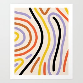 Warm lines Art Print