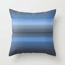 Blue Lines Throw Pillow