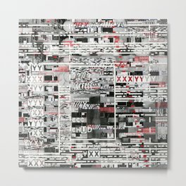 Natural Selection Doesn't Play Fair (P/D3 Glitch Collage Studies) Metal Print