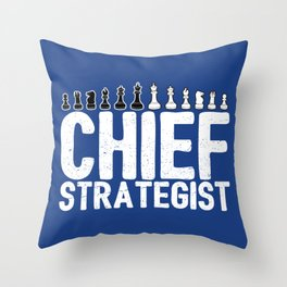 Chief Strategist Chess Master - Cool Chess Club Gift Throw Pillow