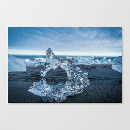 The Ice Horseshoe in Iceland Canvas Print