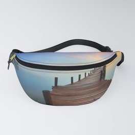 Pier on the Water at Sunset  Fanny Pack