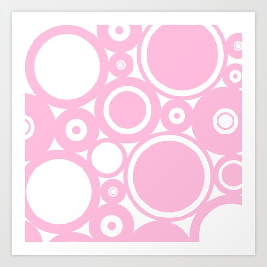 Abstract dots and circles - abstract patterns - pink #Society6 Art Print