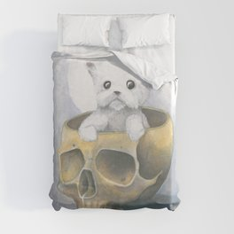 i ated all the brains Duvet Cover