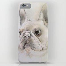 Frenchie portrait iPhone 6 Plus Slim Case
