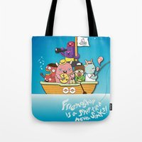 friendship Tote Bags featuring Friendship by Gunawan Lo