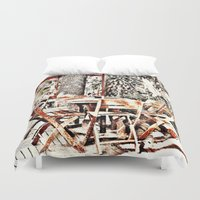 outdoor Duvet Covers featuring Outdoor Lunch by Losal Jsk