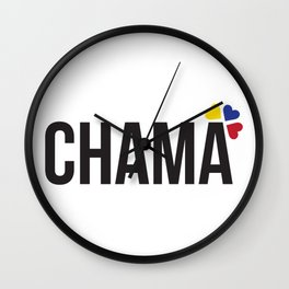 Chama lettering design Wall Clock