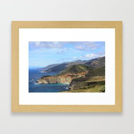 Looking Back at the Bixby Bridge Framed Art Print