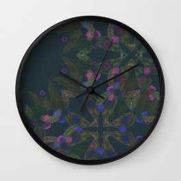 TINY FLORAL Wall Clock
