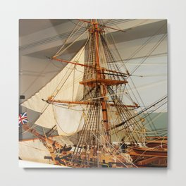 Nelson's HMS Victory Model Metal Print