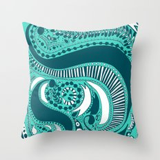 Majorie Blue Throw Pillow