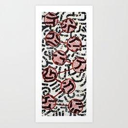 Lotus Spatter Art Print