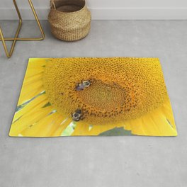 Sunflower with Bees Rug