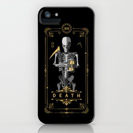 Death XIII Tarot Card iPhone Case