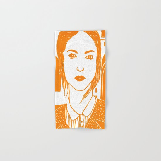 WUTHERING HEIGHTS - LINO (ORANGE VERSION)  Hand & Bath Towel