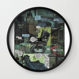 Bruce Wayne Comic Collage Wall Clock