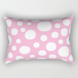 Pink Negative Dots w/ White Background Rectangular Pillow