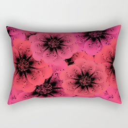 Bright red, crimson flowers background. Rectangular Pillow